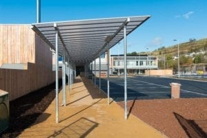 Ebbw Fawr Learning Community Bespoke Canopies