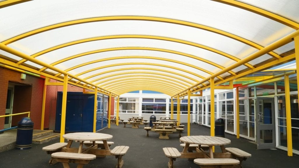 Poynton High School Yellow Shelter
