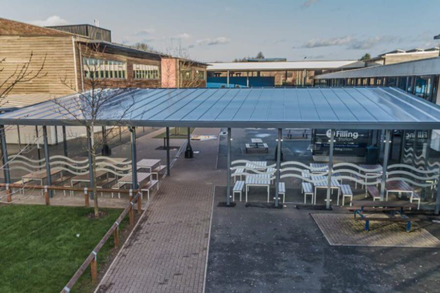 Whitecross High School Bespoke Dining Shelter