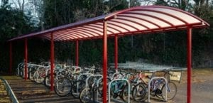 Myton School Cycle Shelter