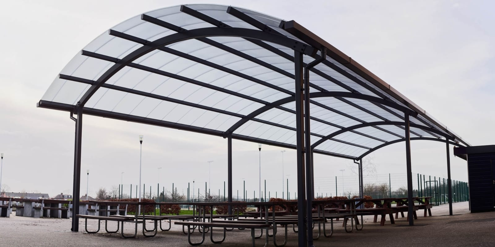 Dining shelter we made for Blessed John Henry Newman College