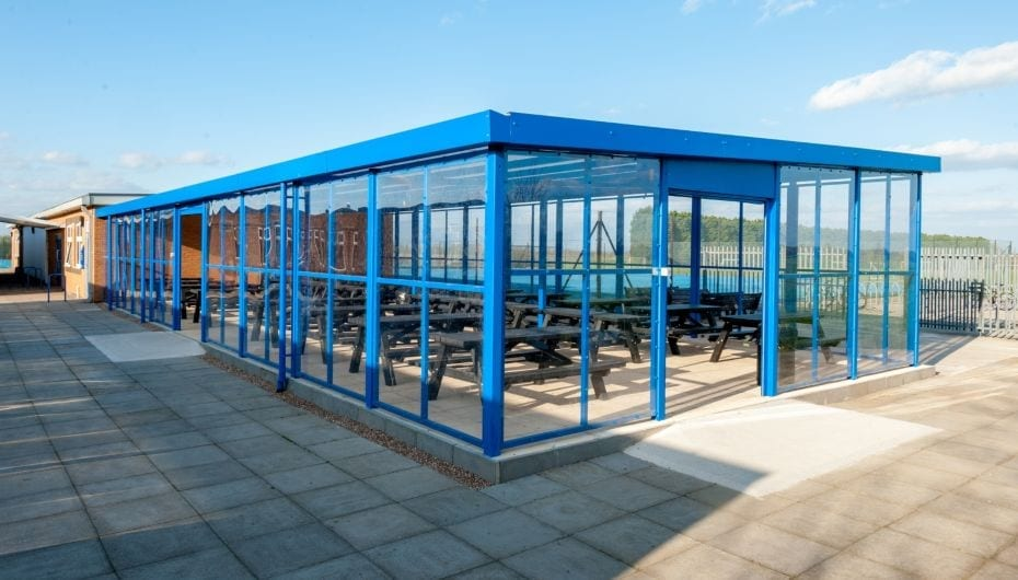 Dining shelter made for Branston Academy