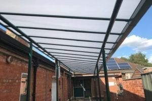 Canopy we installed at Bretforton Village School