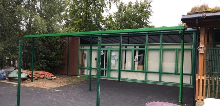 Playground canopy we made for Burntstump Seely Academy