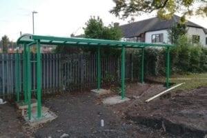 Shelter we designed for Park Gate Primary School