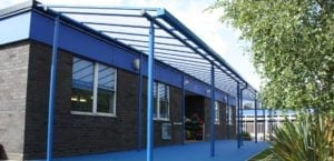 Canopy we fitted at Captain Webb Primary School