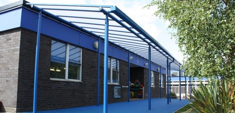 Captain Webb Primary School Shelter