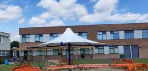 Charters School White Fabric Canopy