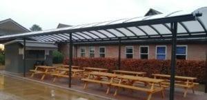 Canopy we fitted at Chesham Grammar School