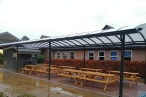 Canopy we fitted at Chesham Grammar School