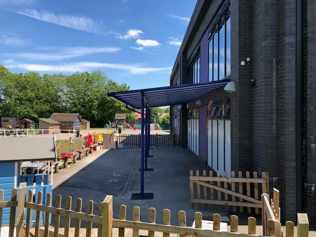 Playground shelter we made for Christ Church of England Primary School