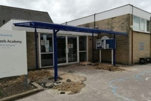 Shelter we fitted at High Hazels Academy