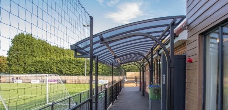 Horsham Football Club Cantilever Canopy