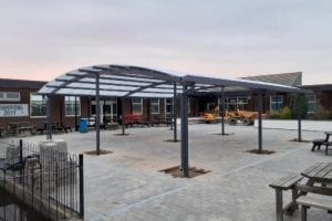 Canopy we installed at Humberston Academy