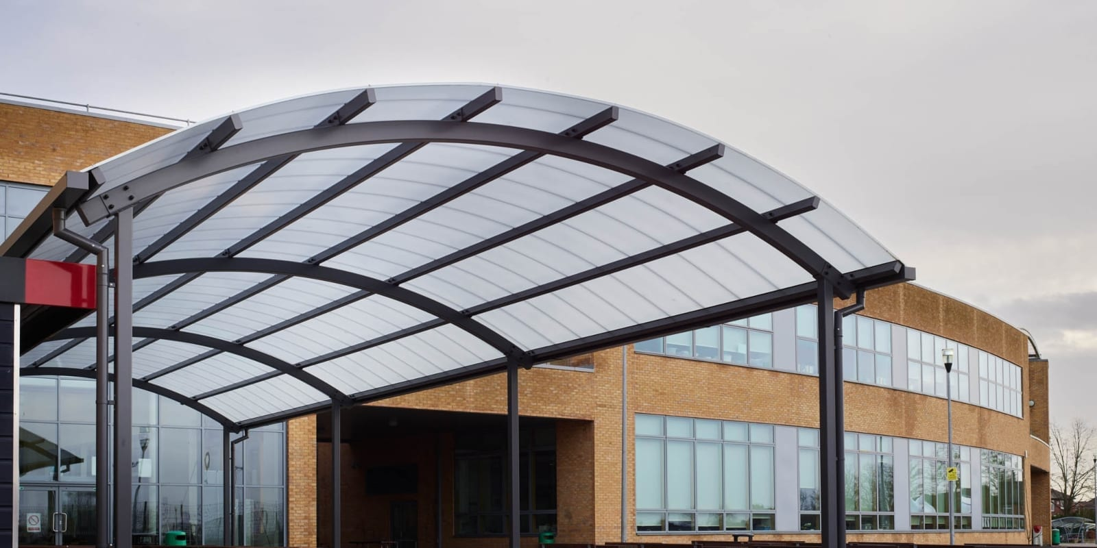 Dining canopy we made for Blessed John Henry Newman College