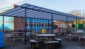 Shelter we installed at Meole Brace School