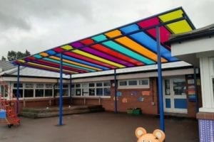 Canopy we fitted at Old Church C of E Primary School
