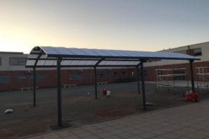 Dining shelter we made for Outwood Academy Valley