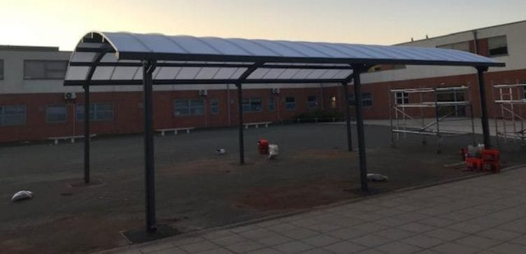 Dining shelter we designed for Outwood Academy Valley