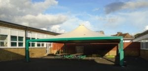 Canopy installed at Queen Eleanor School
