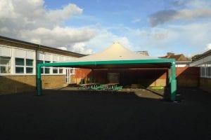 Canopy installed at Queen Eleanor School