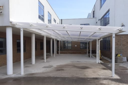 Shelter we fitted at Seahaven Academy