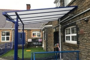 Shelter we installed at St Helen's Primary School