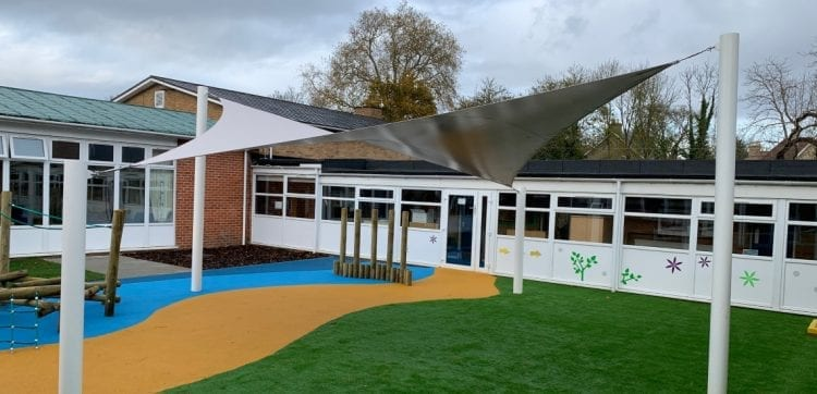 Playground shade sail we made for Stapleford Primary School
