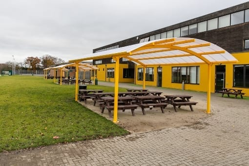 Shelters we fitted at Waingels College