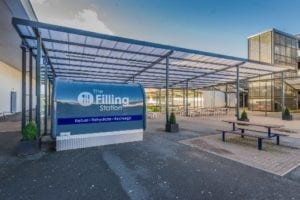 Shelter we installed at Whitecross High School