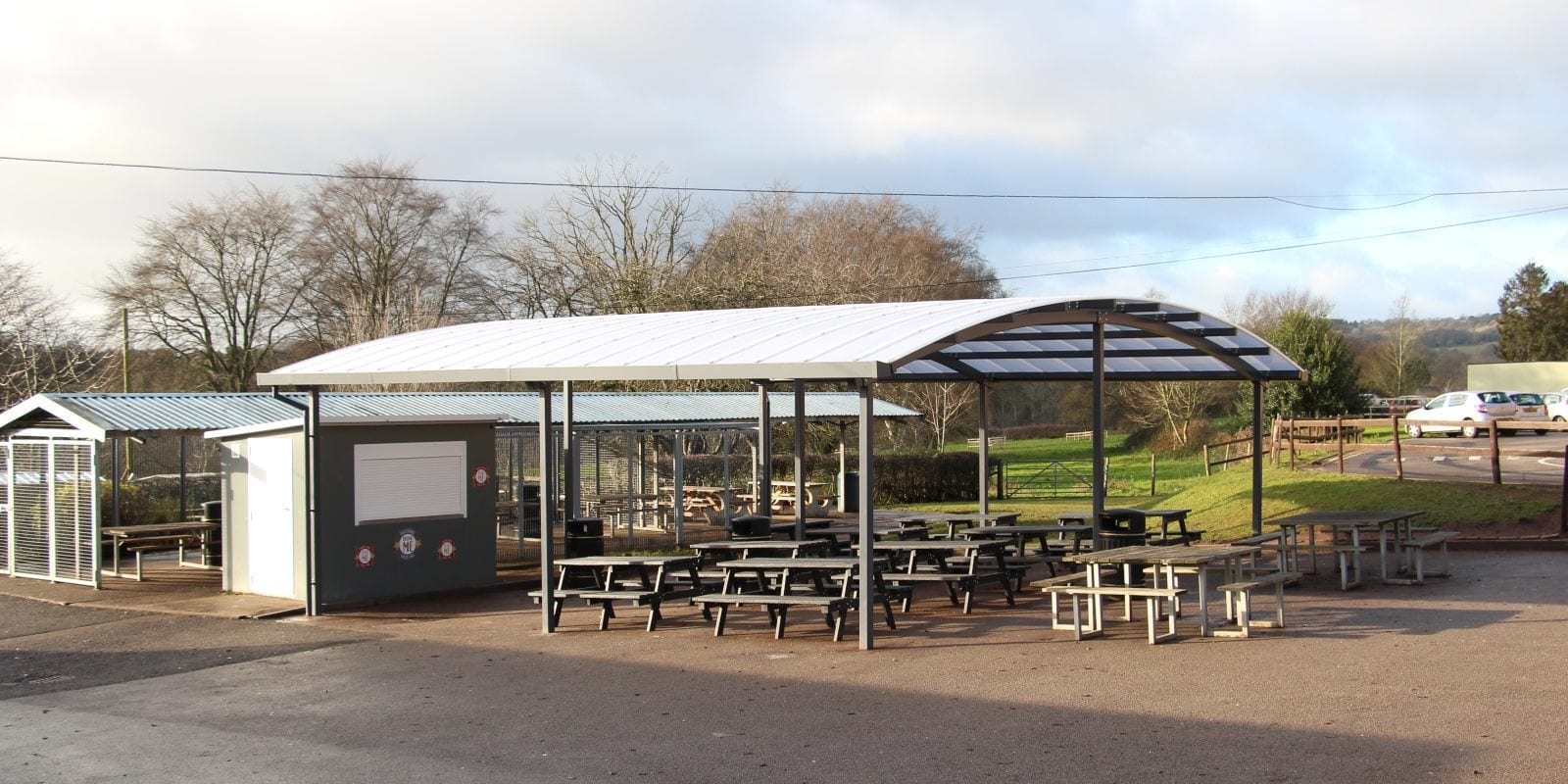 Wolverley CE School Dining Area Canopy