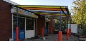 Canopy we fitted at Wyndcliffe Primary School