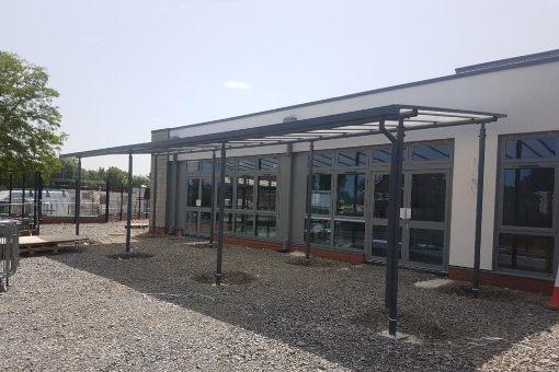 Shelter we designed for Gwersyllt CP School