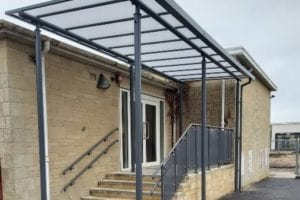 Canopy we fitted at Cirencester Primary School
