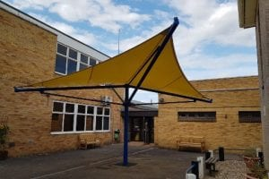 Shade installed at City College Peterborough