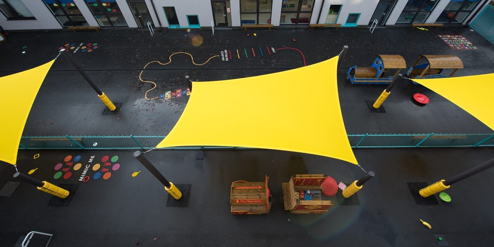 Glenwood School Yellow Playground Sail