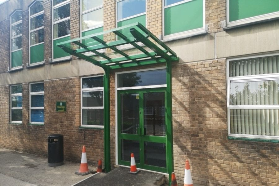 Green School Entrance Canopy