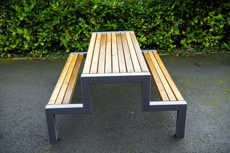 School Wooden Picnic Bench