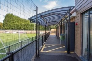 Shelter we installed at Horsham Football Club