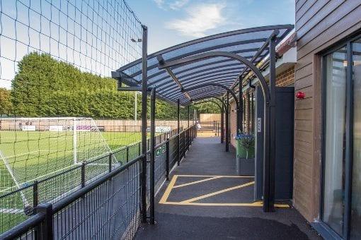 Shelter we installed at Horsham Football Club
