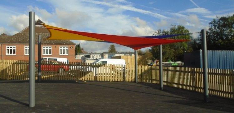 Hugglescote Primary School Shade Sail