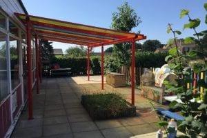Shelter we designed for Ranvilles Infant School