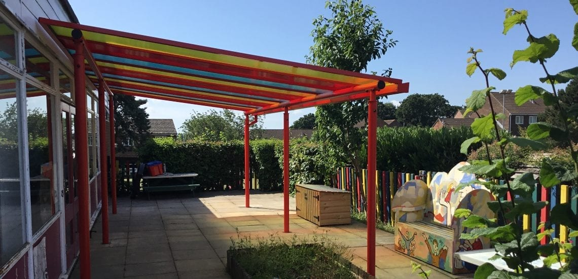 Shelter we designed for Ranvilles Infant School