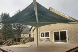 Canopy we fitted at Roman Vindolanda Cafe