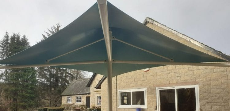 Roman Vindolanda Cafe Umbrella Canopy