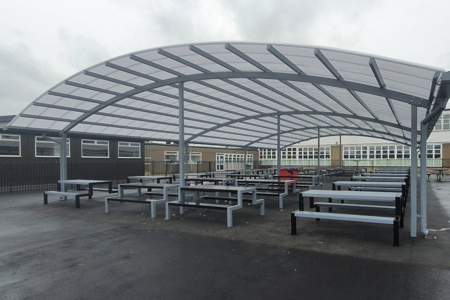 School benches we installed at John Taylor High School