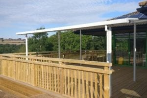 Shelter we designed for Severn Valley Visitors Centre