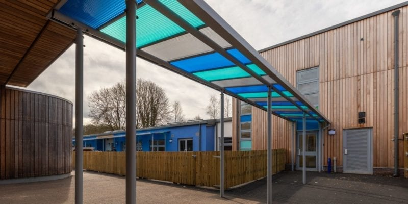Colourful Shelter we built for St Nicholas Primary School