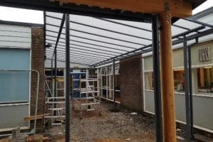 Shelter we fitted at St Andrews CE Primary School