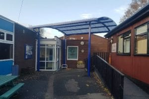 Canopy we installed at St Georges Junior School